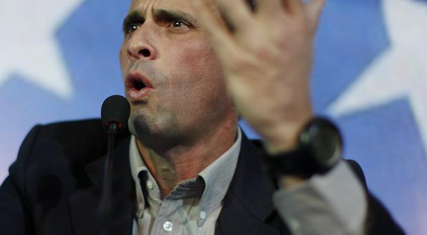 Velezuelan opposition leader Henrique Capriles during a press conference in Caracas (AP/Rodrigo Abd)