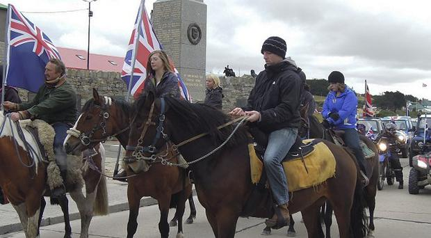 Falkland Islanders campaigning to stay with Britain (AP)