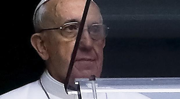 Pope Francis is being visited by Argentina's leader (AP)