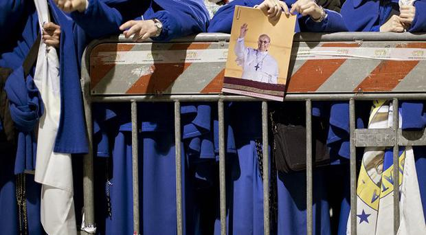 Nuns line up for the inaugural Mass of Pope Francis, at St Peter's Square at the Vatican (AP)