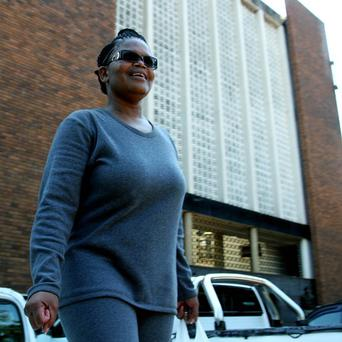 Human rights lawyer, Beatrice Mtetwa arrives at court in Harare, Zimbabwe, on Tuesday (AP)