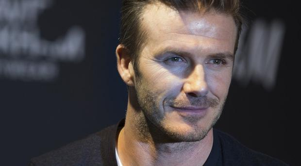 David Beckham is in China as a football ambassador (AP)