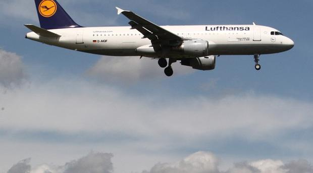 Lufthansa ground staff have walked out as part of a 'warning strike'