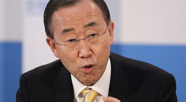 Un chief Ban Ki-moon says use of chemical weapons in Syria would be a crime against humanity