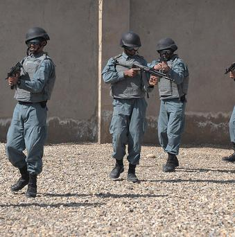 A member of the Afghan local police has shot and killed five of his colleagues