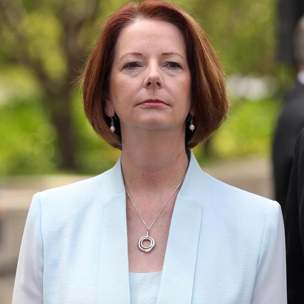 Julia Gillard said: 'Today as a government we can be united and with a sense of purpose'