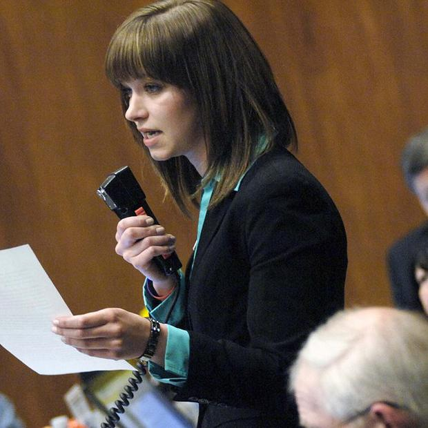 North Dakota state representatives debate the new law (AP)