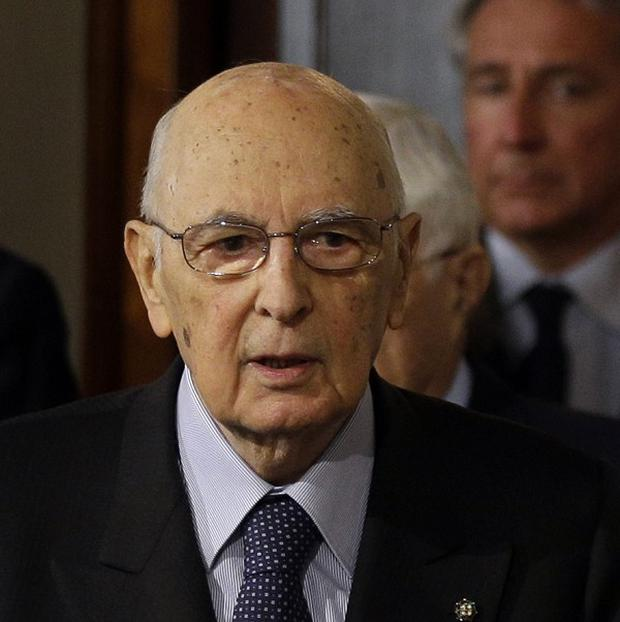 Italian President Giorgio Napolitano's office said he is taking more time to find a way out of the impasse