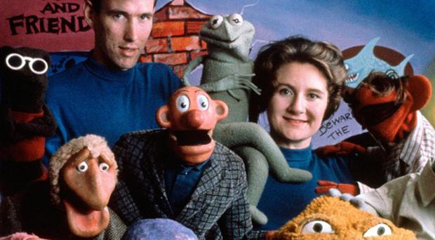 Jane Henson with Jim Henson and the cast of Sam and Friends in Washington (AP/The Jim Henson Company, Del Ankers)