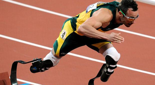 A new photograph of Oscar Pistorius at a running track has been published