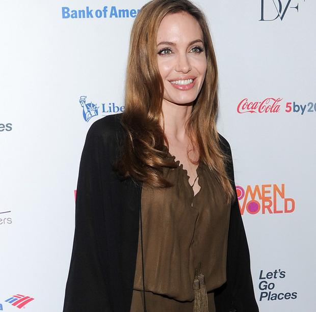 Angelina Jolie attends the Women in the World summit in New York (Evan Agostini/Invision/AP)