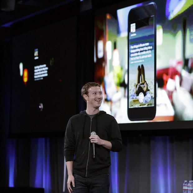 Facebook chief Mark Zuckerberg unveils what he called a new experience for Android phones (AP)