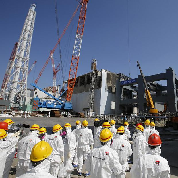 It is part of the water that was used to cool melted fuel at the Fukushima Daiichi reactors damaged in the March 2011 disaster (AP)