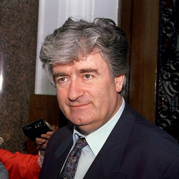 Former Serb leader Radovan Karadzic is accused of organising atrocities