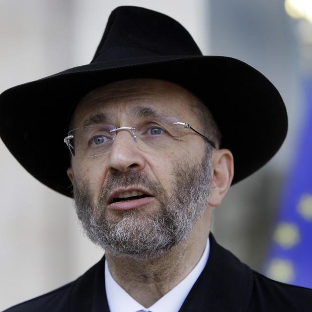 Rabbi Gilles Bernheim said he regretted 'borrowing' from other people's work (AP)