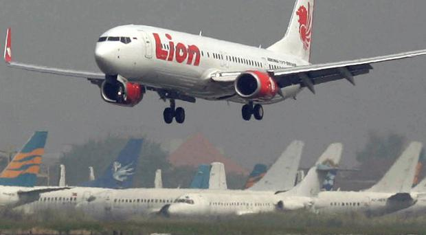 A Lion Air passenger jet skidded off the runway in Bali and ended up in the sea, but all on board survived