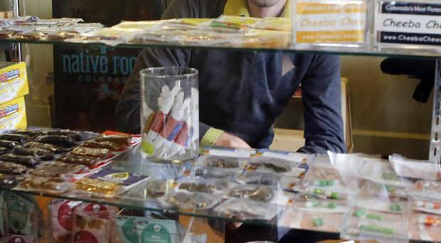 Marijuana edibles at a shop in Denver (AP)