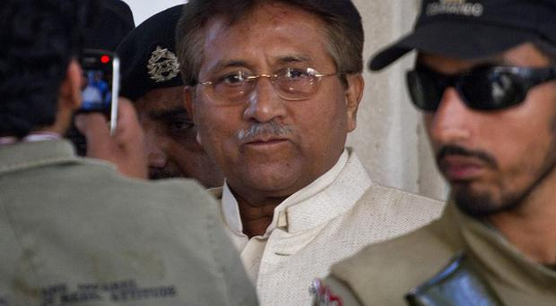 Pakistan's former president and military ruler Pervez Musharraf fled after his bail conditions were revoked (AP)