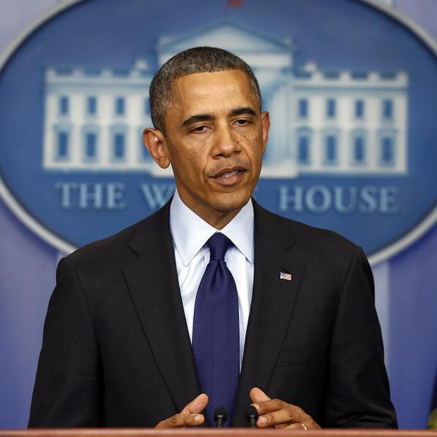 US President Barack Obama addresses the nation from the White House (AP)
