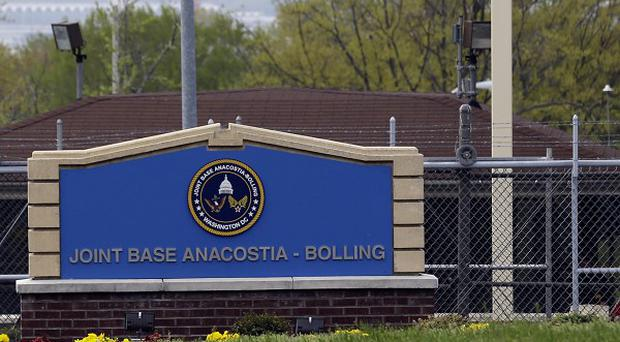 Senate majority leader Harry Reid told reporters there was an incident at Joint Base Anacostia-Bolling (AP)