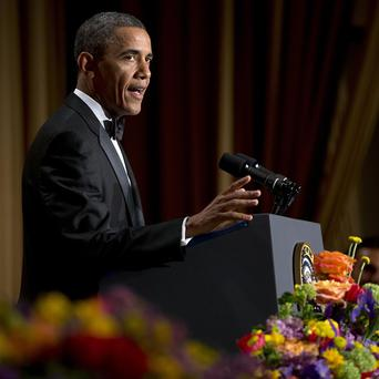 Barack Obama speaks during the White House Correspondents' Association Dinner at the Washington Hilton Hotel (AP/Carolyn Kaster)