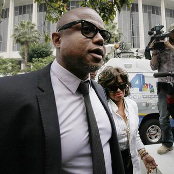 Randy Jackson and Rebbie Jackson arrive at a courthouse for Katherine Jackson's lawsuit against concert giant AEG Live in Los Angeles (AP)
