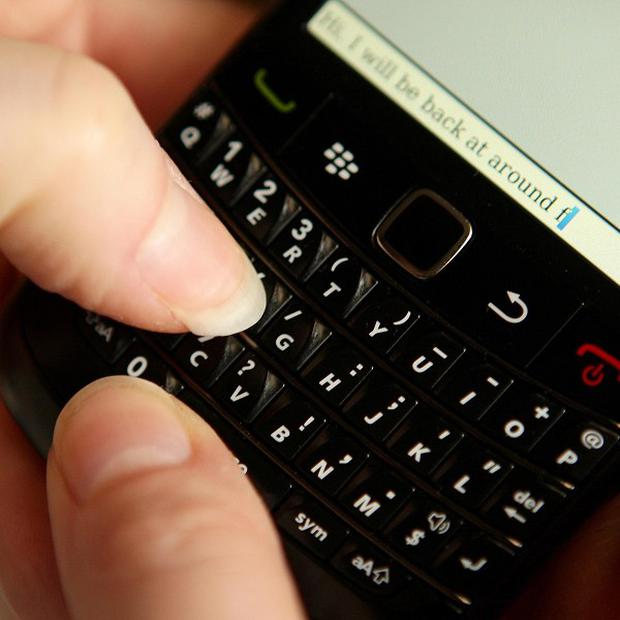 Americans sent more than two trillion text messages last year - but this was fewer than in 2011