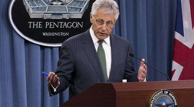 US defence secretary Chuck Hagel said arming Syrian rebels was 'an option' (AP)