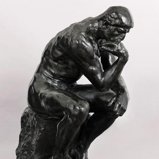 Auguste Rodin sculpture, The Thinker. was commissioned by publishing magnate Ralph Pulitzer in 1906 (AP/Sotheby's)