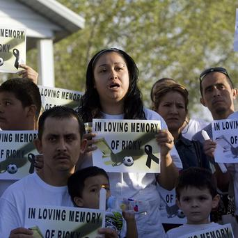 Johana Portillo-Lopez, daughter of Ricardo Portillo, speaks about her father's death during a news conference in Salt Lake City (AP)