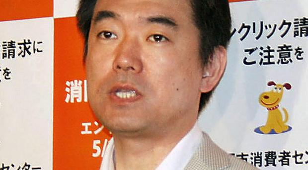 Osaka Mayor Toru Hashimoto said the system in which Asian women were forced to become wartime prostitutes was 'necessary' (AP/Kyodo)