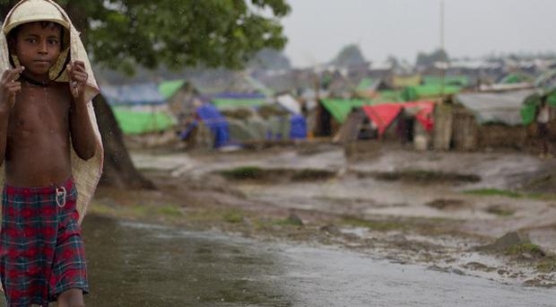 A makeshift camp for Rohingya people in Burma (AP)
