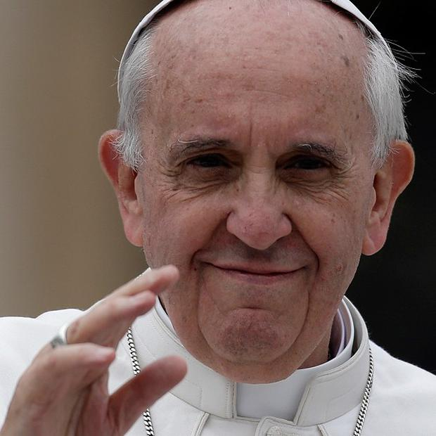 "Pope Francis has condemned the ""cult of money"" (AP)"