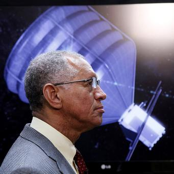 Nasa chief Charles Bolden visits the Jet Propulsion Laboratory in Pasadena, California (AP)