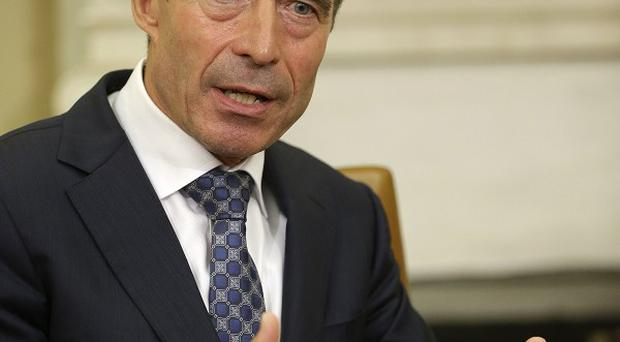 Nato chief Anders Fogh Rasmussen, who has said the alliance will send an expert mission to Libya (AP)