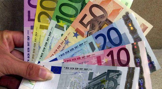 Eurostat, the European Union's statistics office, confirmed that the eurozone's economy as a whole shrank in the first quarter (AP)