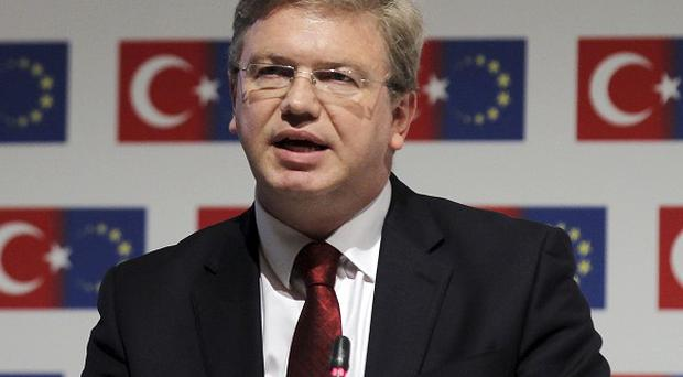 EU commissioner Stefan Fule has criticised Turkish police's harsh crackdown on protesters (AP)