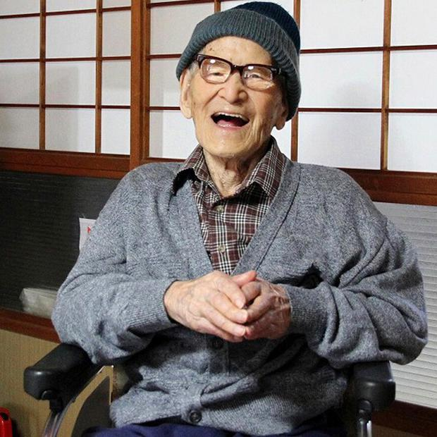 Jiroemon Kimura had been recognised as the world's oldest living man - and the oldest man ever to have lived (AP)