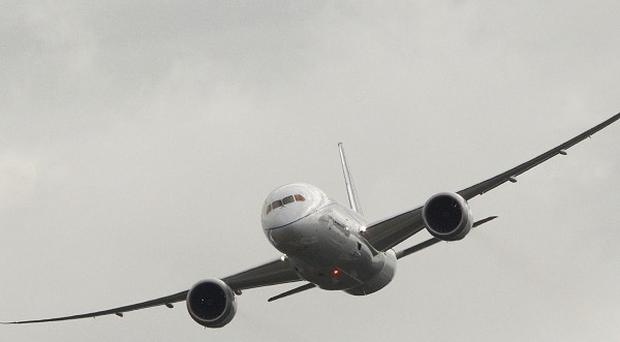 A Boeing 787 has developed engine trouble after take-off