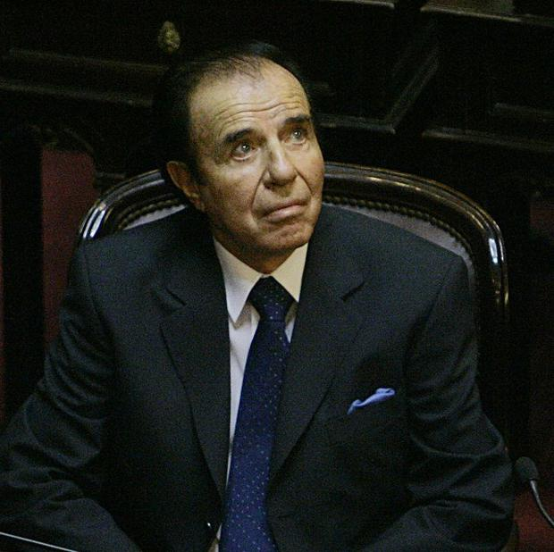 Former Argentine President Carlos Menem has been banned from holding elective office (AP)