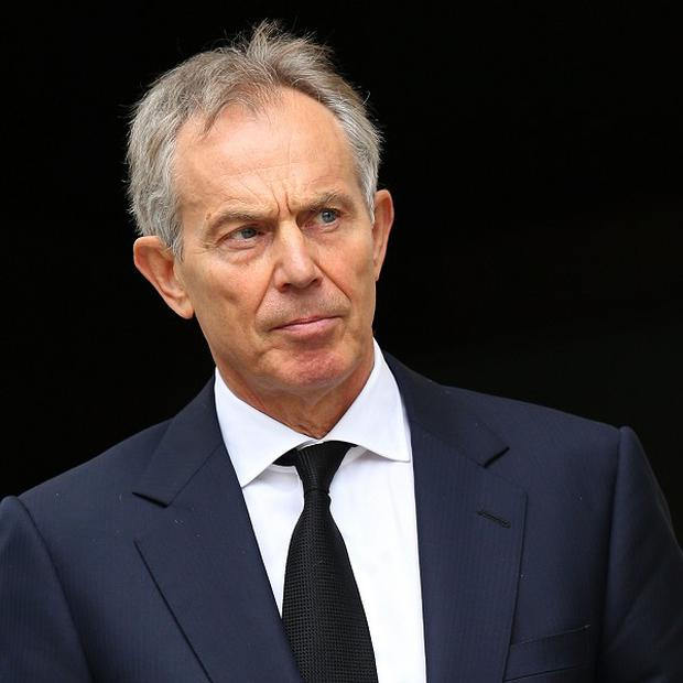 Former Prime Minister Tony Blair has urged intervention against the Syrian regime to prevent catastrophe