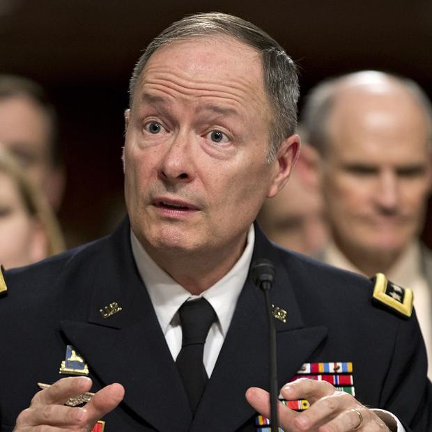 General Keith Alexander said terror plots had been disrupted by a controversial data collection programme (AP)