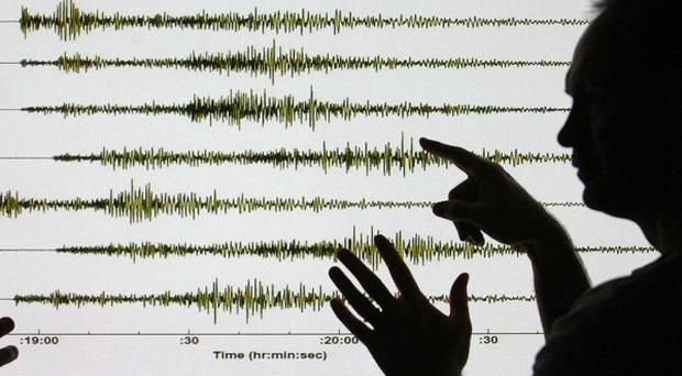 The US Geological Survey said the quake struck about 76 miles south of the Mexican capital