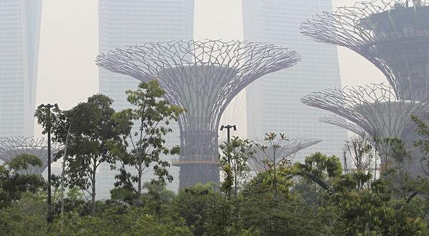 Singapore is covered in a polluting haze (AP)