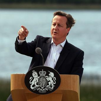 David Cameron holds a press conference at the end of this year's G8 Summit on Lough Erne in Northern Ireland