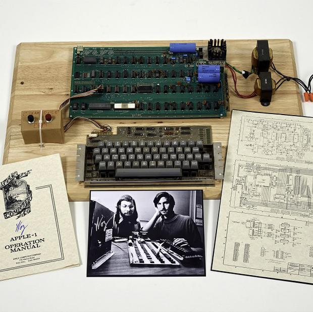 An Apple 1 prototype computer, built in 1976 (AP/Christies Images Ltd 2013)