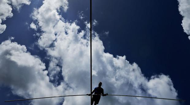 Nik Wallenda took just over 22 minutes to complete a tightrope walk over the Little Colorado River Gorge in northeastern Arizon (AP/Chris O'Meara)