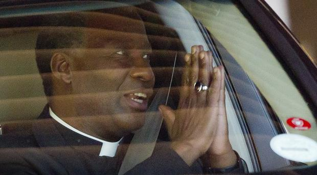 Anglican Archbishop Thabo Makgoba visited the Mediclinic Heart Hospital where former South African President Nelson Mandela is being treated (AP)