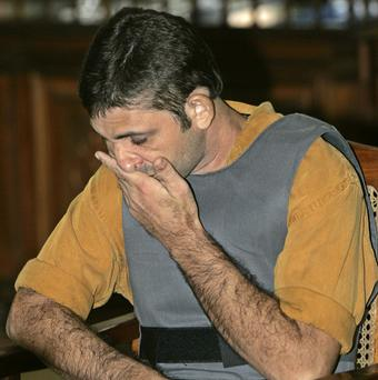Rayfran das Neves Sales during the trial for killing of nun Dorothy Stang (AP/Silvia Izquierdo)