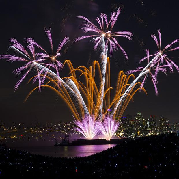 Several people were hurt at a fireworks display in California